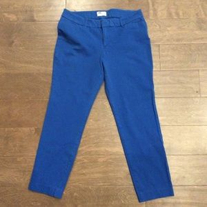Old Navy 'The Diva' Capris Size 10 Cobalt Blue EUC